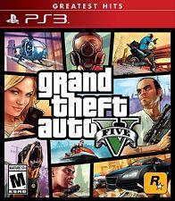 Grand Theft Auto 5 V [PlayStation 3 Ps3, Greatest Hits, Action Carjacking] New