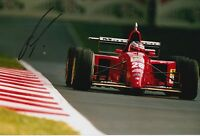 Gerhard Berger Hand Signed Ferrari 12x8 Photo F1 4.