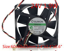"SUNON Cooling Fan KDE2406PHV1-A 24V 1.9W 6015 3 pin 60x60x15mm 2.4""x2.4""x0.6"""