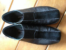 Bernie Mev Women's (38 )7.5 Black Leather Loafer Shoes