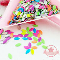 200 pcs Mix neon colors Marquiseshape nail studs 3D Design Manicure