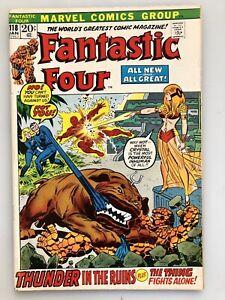 FANTASTIC FOUR #118 BRONZE AGE MARVEL COMIC JAN 1972 CRYSTAL,LOCKJAW,DIABLO