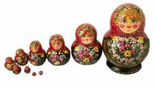 POUPEES RUSSES EMBOITABLES MATRIOCHKA PEINTE PAR NADEJDINA / 10 PIECES RUSSIE