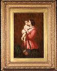 JAMES BUCHANAN  (fl.1848-1855) SIGNED SCOTTISH OIL CANVAS MOTHER CHILD MATERNITY