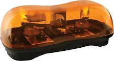 DUAL ROTATOR EMERGENCY WRECKER LIGHT BAR, AMBER, MAGNETIC 12V, 16.5L x 8W x 6H