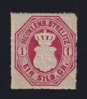 Germany Mecklenburg-Strelitz Sc #4 (1864) 1sg rose Coat of Arms Mint H