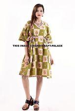 Women's Caftan Dress Kaftan Kantha Quilt Fabric Maxi Gown Plus size Beach Dress
