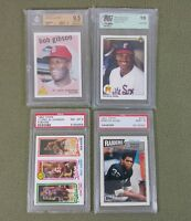 Topps Upper Deck Gibson Johnson Allen Sosa Graded Baseball MLB NFL NBA Cards
