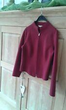 Wolljanker, gewalkte Wolle, gekochte Wolle, Eddie Bauer, dezentes Rot, zeitlos!!