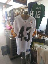 Troy Polamalu #43 Pittsburgh Steelers Away Replica Reebok Football Jersey Med
