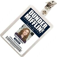 The Office Pam Halpert Dunder Mifflin ID Badge Cosplay Costume Name Tag TO-3