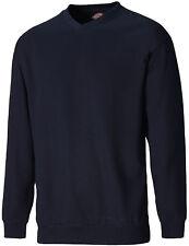 Dickies V Crew Neck Sweatshirt Mens Durable Work Jumper SH11150 UKS-XXL