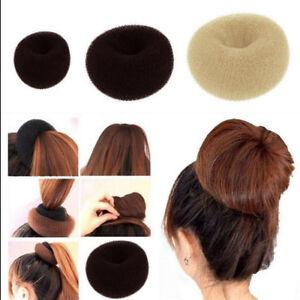 3pcs Hair Donut Bun Maker Hair Ring Styler Maker Round Mesh Sponge for Women