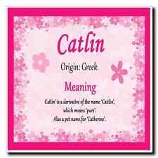 Catlin nome personalizzato significato Coaster