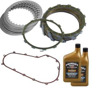 Barnett Extra Clutch Friction Plates Kit w/ Gasket & Oil Harley FXD FLS 07-17