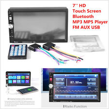 "7"" HD 2DIN Car Video MP5 Player Bluetooth Touch Screen Stereo Audio Radio FM AUX"