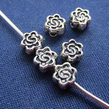 40 pz - Perline in argento tibetano - 4,5 x 2,5 mm