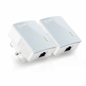 TP-Link TL-PA411KIT 600Mbps Nano Powerline Ethernet Adapter Home Plug Twin Pack