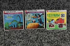 1971 View-Master 3-D Story Disks with 3 Child's Stories with story books