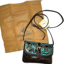 Patricia Nash Torri Turquoise Tooled Leather Crossbody Bag Purse handbag