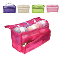 ALS_ KF_ Knitting Bag Tote Yarn Storage Case for Crocheting Hook Sewing Needles