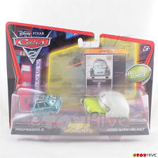 Disney Pixar Cars Movie Moments Professor Z and Acer with Helmet Mattel diecast