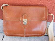 vintage SAC A MAIN sacoche en CUIR marron LEATHER BAG Ledertasche LEDER handbag