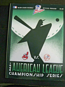 Vintage 1998 Official Program MLB - ALCS - NY Yankees vs. Cleveland Indians