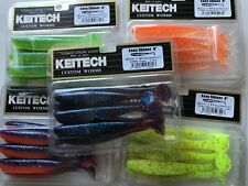"KEITECH Lures Easy Shinner 4"" 7pcs JAPAN Strong Squid scented Drop Shot jig"