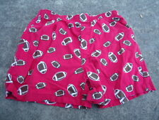 Old Navy Boy's Red Football Elastic Waist Shorts Size Large