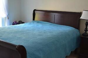 Tache 3-5 PC Cream Blue Tan Super Soft Plush Velvet Waves Quilt Bedspread Set