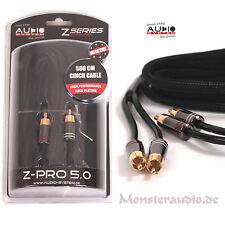 Audio System Z-PRO 5.0 5m Cinchkabel High End Cinch Kabel 5 Meter vergoldet