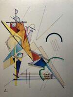 Wassily Kandinsky, Tessuto, litografia 40x30 - Repubblica Weimar 1923, autentica