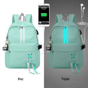 Anti Theft Reflective Waterproof Women Backpack Usb Charge School Bag Girl Gifts