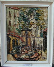 Preben Rasmussen*1919, Cafe am Place du Tertre
