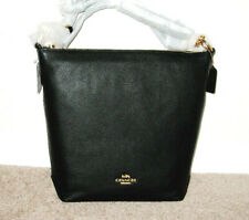 Coach Abby Duffle Black Leather Shoulder Crossbody Bag F31507 NWT $398