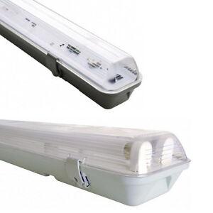 NEU*SET Feuchtraum-Wannenleuchte EVG IP65 mit/ohne Neonröhre T8 60cm/120cm/150cm