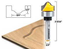 "3/4"" Faux Panel Ogee Groove Router Bit - 1/4"" Shank - Yonico 14978q"