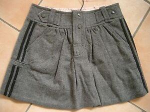 (C334) Süßer Little Marc Jacobs Girls Woll Rock mit Taschen und Streifen gr.152