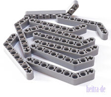 LEGO Technik - 10 x Liftarm dick, 1x9 ( 7 auf 3 ) hellgrau / 32271 NEUWARE