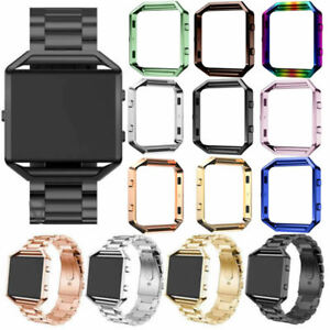 Stainless Steel Metal Sport Watch Band&Frame Wristband for Fitbit Blaze Tracker