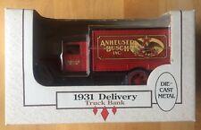 Die-cast Metal 1931 Delivery Truck Bank, Anheuser Busch, NIB