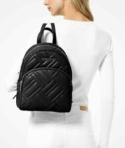 Michael Kors Backpack Bag Abbey Md Backpack Black 35S9SAYB2T Vegan Faux Leather