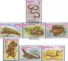 Nicaragua 2335-2341 (complète edition) neuf avec gomme originale 1982 reptiles