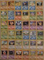 1999 Base Set Pokemon Cards ( 36 ) All Near Mint Bulbasaur , Ivysaur And More!