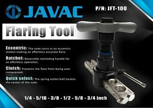 Flaring Tool - Eccentric ratchet 45 Degree with self aligning bar HVAC