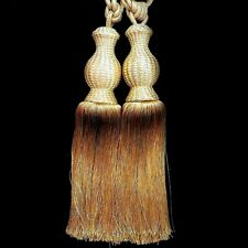 Gold Curtain Tassels Exquisite Long Tassel Fringe Tie Backs, Sold in a pair