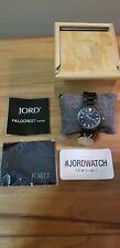 Brand New JORD Fieldcrest Series Dark Sandalwood Wood Wrist Watch w/ Box