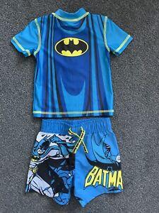 Primark Boys Batman Shorts & Top Swim Suit Age 12-18 Months