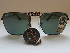 Ray Ban Vintage B&L Caravan 52mm Black Color Square Aviator NEW OLD STOCK VTG